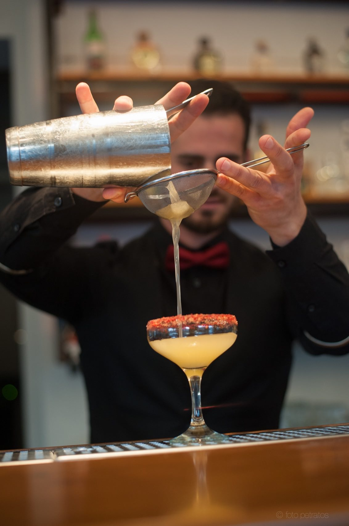Our Bartender Creating The Cocktail..